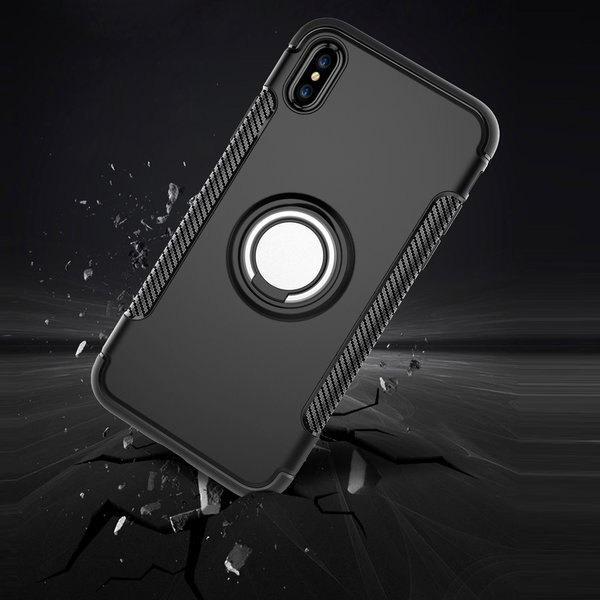 iPhone X Hülle mit Ring TPU Silikon Case Handyhülle 360°...