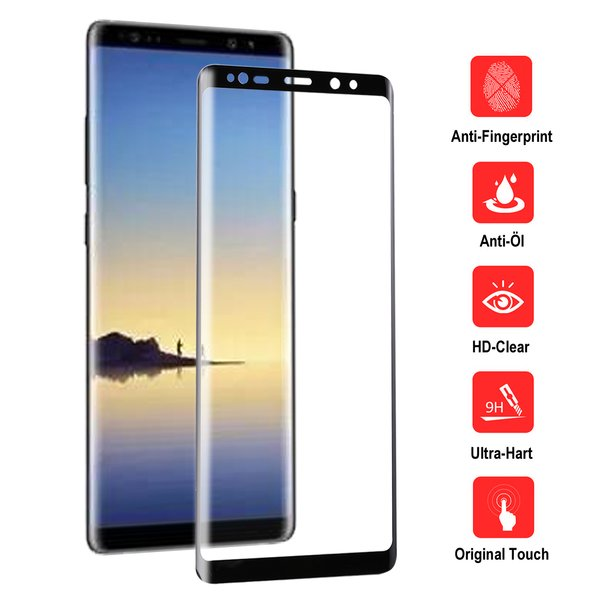 Samsung Galaxy Note 8 Panzerglas FULL SCREEN 3D...