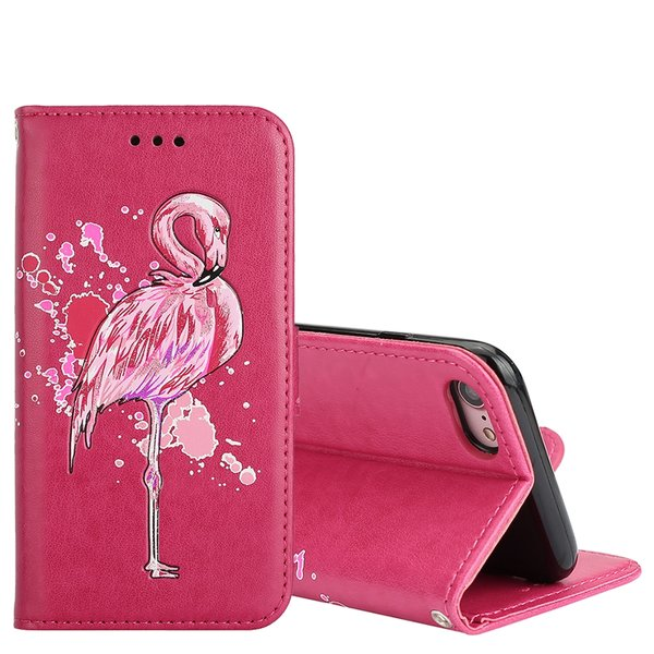 Flip Case für iPhone 8 / iPhone 7 Flamingo-Design aus...