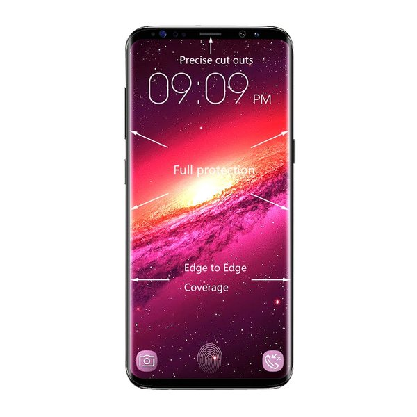 Samsung Galaxy S9 Plus Panzerglas FULL COVER Schutzfolie...