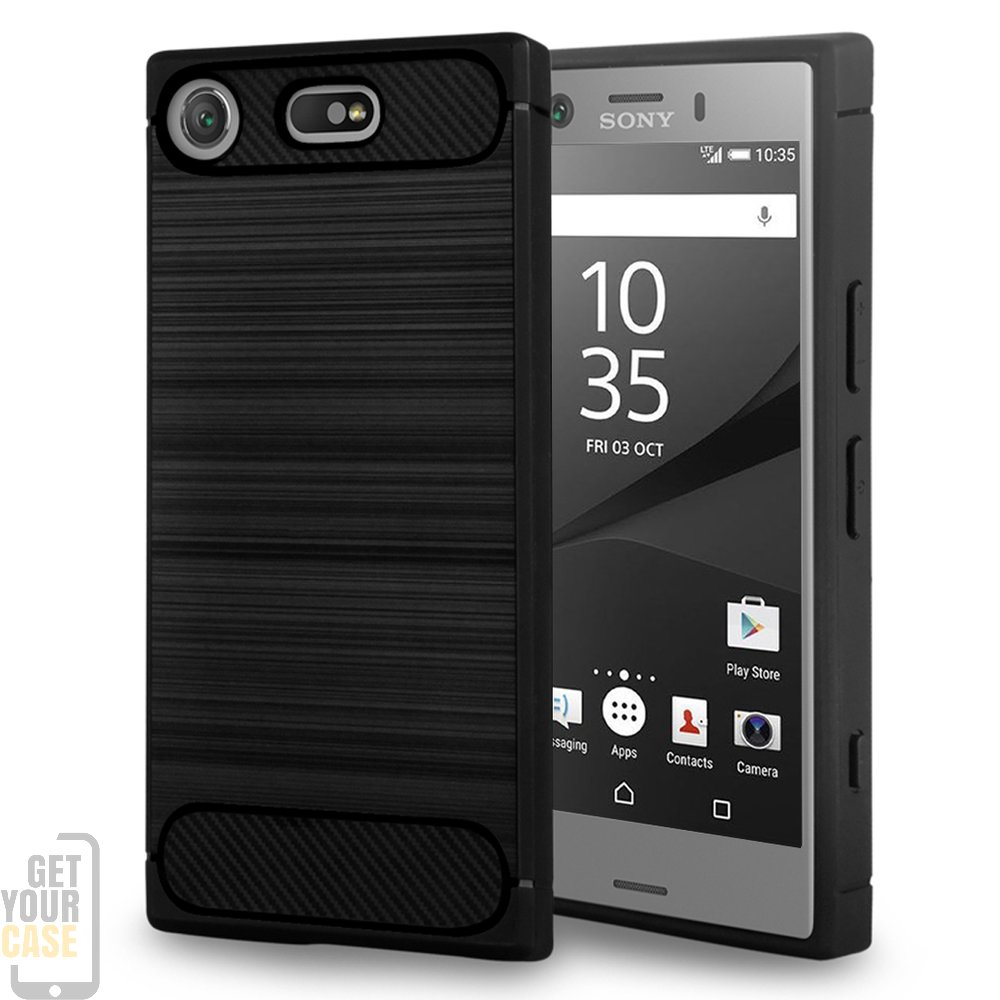 sony xperia xz1 compact h lle brushed carbondesign schutzh. Black Bedroom Furniture Sets. Home Design Ideas