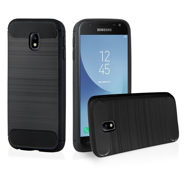 Samsung Galaxy J3 2017 Hülle Brushed Carbondesign...