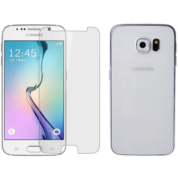 Samsung Galaxy S6 Rundumschutz 2 in 1 Set [CASE +...