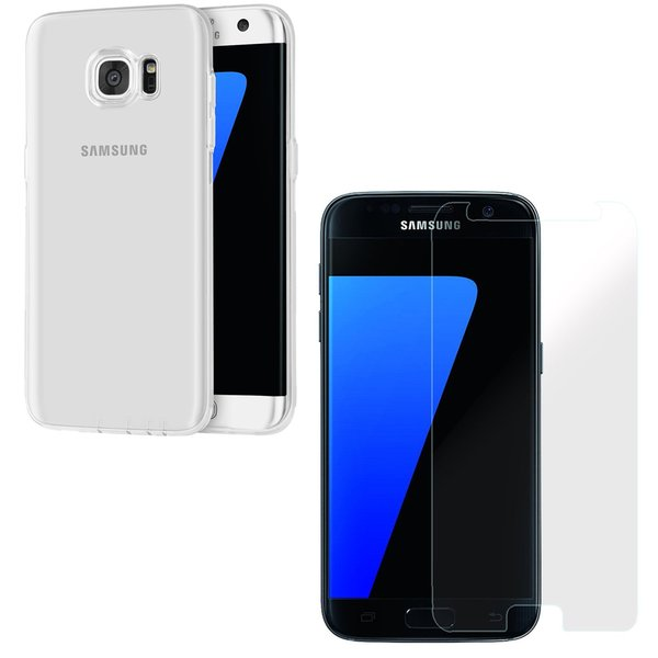 Samsung Galaxy S7 Rundumschutz 2 in 1 Set [CASE +...