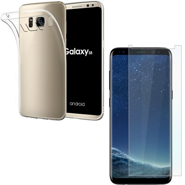 Samsung Galaxy S8+ Rundumschutz 2 in 1 Set [CASE +...