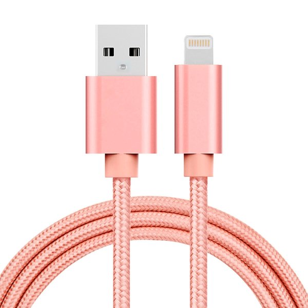Lightning Kabel 1m Rosegold geflochtenes Ladekabel High...