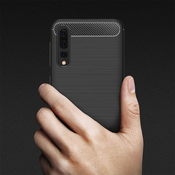 Huawei P20 PRO Hülle Brushed Carbondesign Schutzhülle...