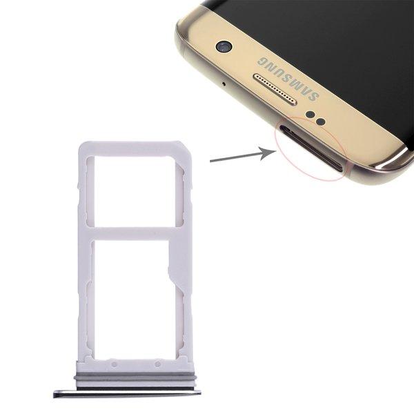 Samsung Galaxy S7 Edge Sim Karte.Sim Micro Sd Karten Halter Schwarz Für Samsung Galaxy S7 Edge Dual Adapter Tray Slot
