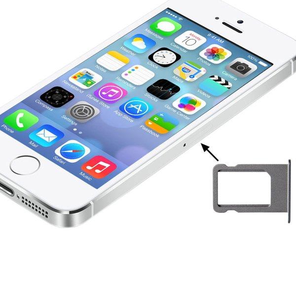 Iphone 5s Sim Karte Einlegen.Sim Karten Halter Silber Fur Iphone 5s Adapter Tray Slot Ersatz