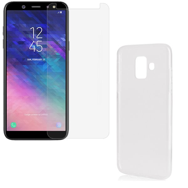 Samsung Galaxy A6 2018 Rundumschutz 2 in 1 Set CASE +...