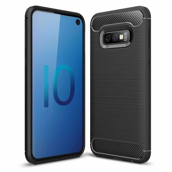 Samsung Galaxy S10e Hülle Brushed Carbondesign...