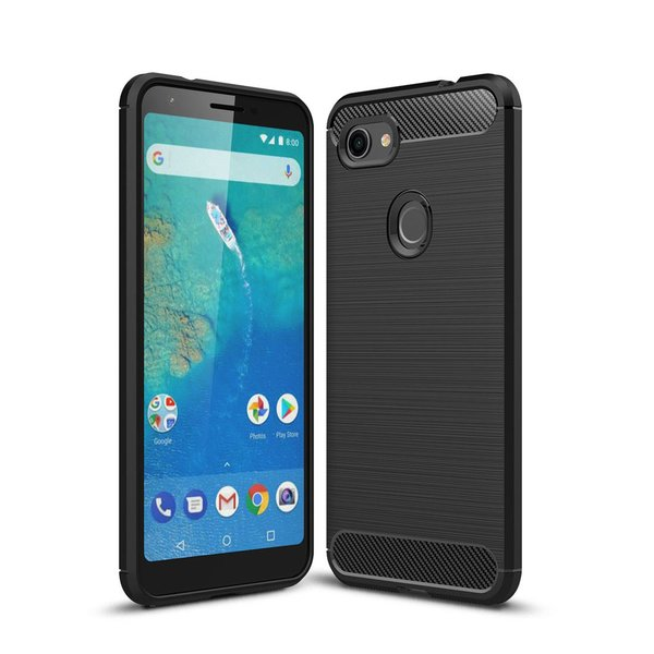Hülle für Google Pixel 3a XL Brushed Carbondesign...